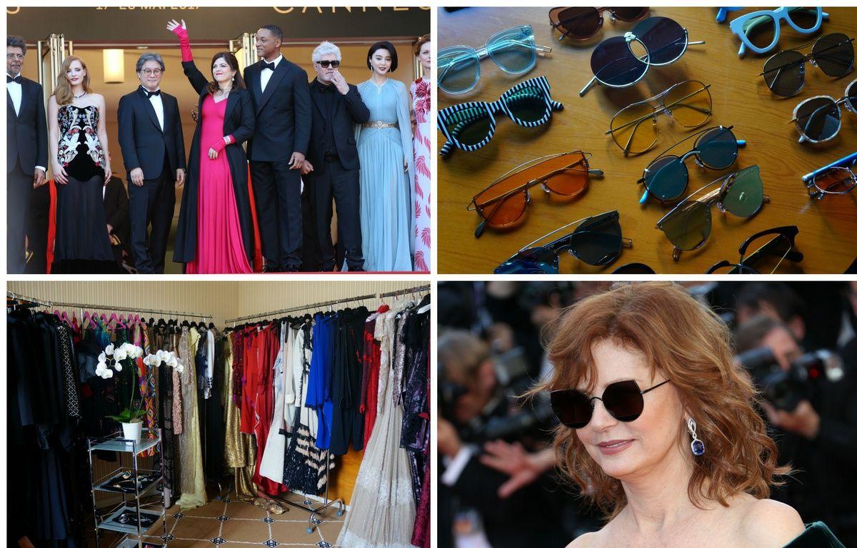 Agnès Jaoui habillée par Julien Fournié, le showroom Totem, et Susan Sarandon et ses lunettes Gentle Monster. – Yan Maisani/Totem Fashion