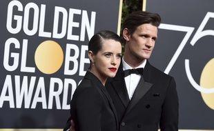 Claire Foy et Matt Smith aux Golden Globes, le 7 janvier 2018.