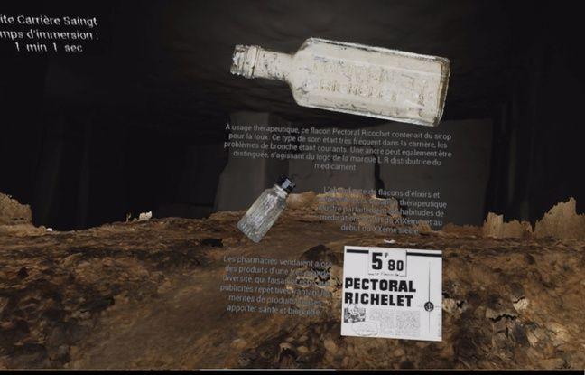 Une modélisation en 3D de la carrière Saingt, où se sont réfugiés des civils durant la Bataille de Normandie, va permettre au public d'en effectuer une visite virtuelle. A chaque objet pointé apparaîtront des explications.