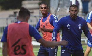 Les joueurs du RC Strasbourg à l'entraînement, le 9 juillet 2020.