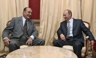 Jacques Chirac, qui n'était déjà plus président de la République, et Vladimir Poutine, en 2008.