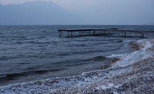 Photo d'illustration du lac du Bourget (Savoie), ici en février 2012.