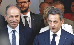 Jean-François Copé, Jérôme Lavrilleux et Nicolas Sarkozy à Paris le 8 juillet 2013.