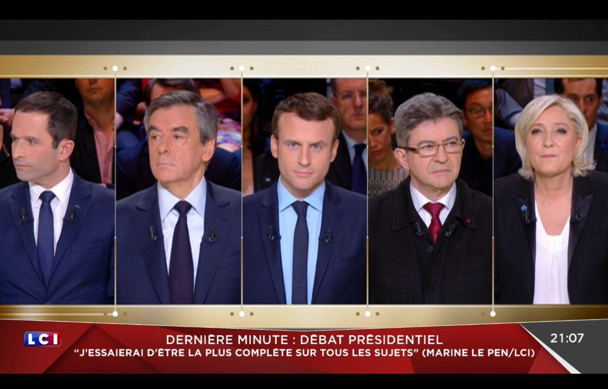 Le premier débat télévisé de l'élection présidentielle 2017 (capture LCI). – LCI
