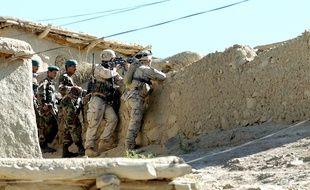 Des soldats américains et afghans dans le sud-est du Pakistan en 2005.