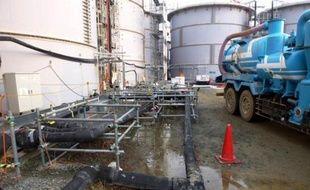 Une fuite d'eau contaminée à la centrale nucléaire de Fukushima Daiichi, le 20 février 2014