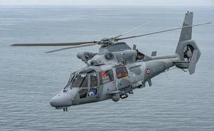 Illustration d'un hélicoptère Panther de la Marine nationale.