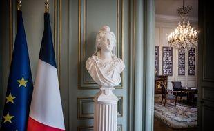 Un buste de Marianne au ministère de l'Intérieur, place Beauvau, le 5 octobre 2020. (illustration)