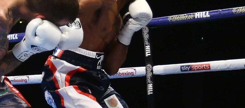 Le boxeur toulousain Mohamed Mimoune conserve son titre de champion du monde IBO. Illustration.