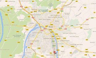 Google map de Saint-Etienne du Rouvray (Seine-Maritime).