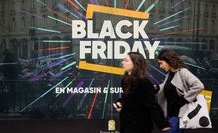 Un logo Black Friday à Ajaccio.