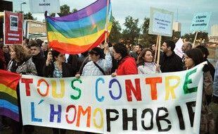 Lors d'une manifestation contre l'homophobie, à Cenon, en Gironde. (archives)
