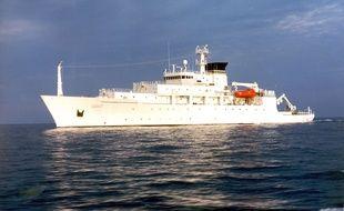 Le navire océanographique américain USNS Bowditch.