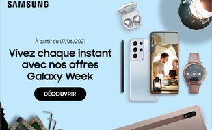 Profitez des prix cassés avec la Galaxy Week chez Samsung