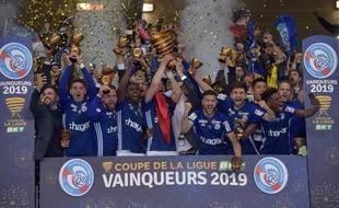 Les Strasbourgeois soulèvent la coupe de la Ligue