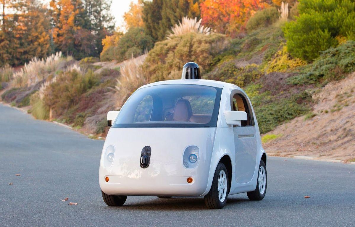 Un protoype de Google Car dévoilé par Google le 22 décembre 2014. – GOOGLE
