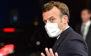 Emmanuel Macron à Bruxelles, le 18 juillet 2020.