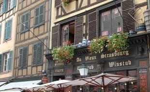 Illustration de maisons à colombages à Strasbourg
