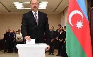Le président de l'Azerbaidjan lham Aliyev, le 26 septembre 2016 à Bakou.