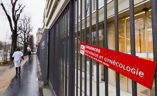 Le 4 fevrier 2013. Illustration de la facade de la maternite de Port-Royal a Paris.