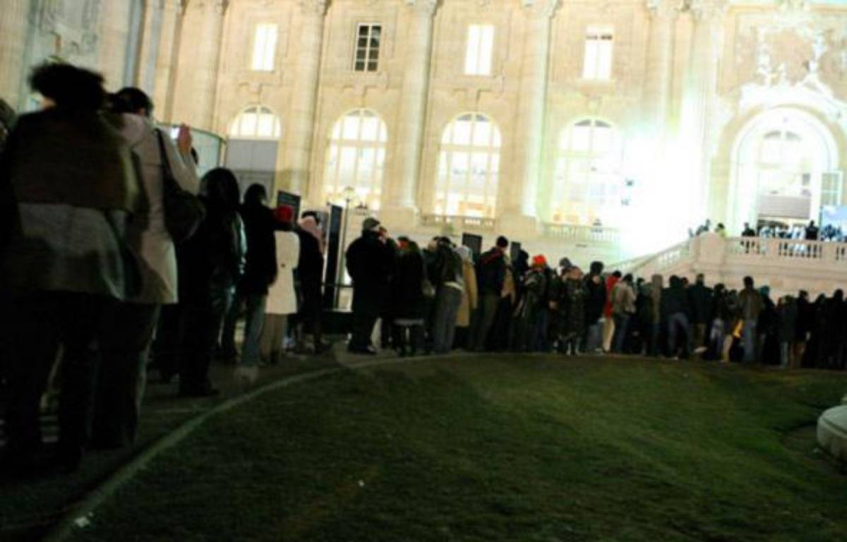 L'exposition «Picasso et ses maîtres» accueillait au Grand Palais les visiteurs 24 heures sur 24 pour ses trois derniers jours, Paris, le 1er février 2009.   – SIPA