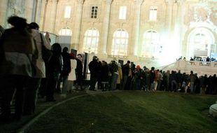 L'exposition «Picasso et ses maîtres» accueillait au Grand Palais les visiteurs 24 heures sur 24 pour ses trois derniers jours, Paris, le 1er février 2009.