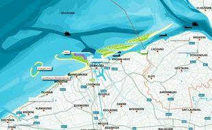 Le projet d'îles artificielles au large de Knokke-Heist