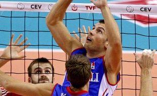Le passeur de l'équipe de France et du Paris-Volley, Yannick Bazin, lors de l'Euro en Pologne, le 13 septembre 2009.