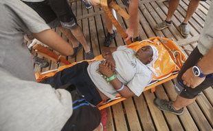 Josepha, une migrante camerounaise de 40 ans, a été sauvée in extremis en pleine Méditerranée par l'ONG Proactiva Open arms.