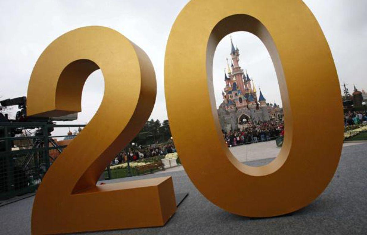 Disneyland Paris a lancé officiellement les festivités pour son 20e anniversaire le 31 mars 2012. – Michel Spingler/AP/SIPA