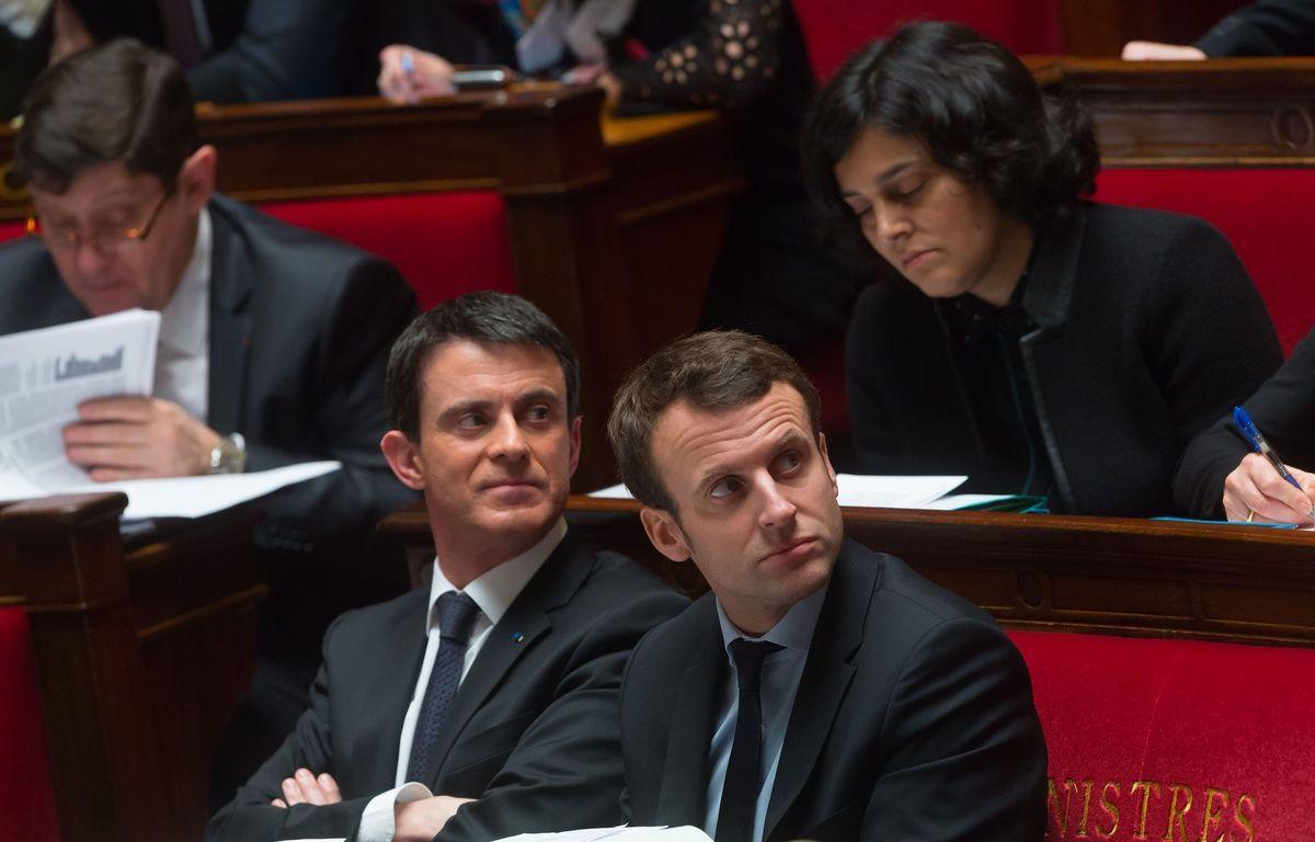 Le Premier Ministre, Manuel Valls , le ministre de l'Economie, Emmanuel Macron et la ministre du Travail, Myriam El Khomri, seront en visite dans le Haut-Rhin lundi. (Photo d'archives) – SIPA