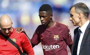 Ousmane Dembélé s'est blessé avec le Barça