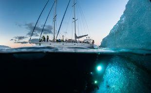 Image d'une des missions d'Under the Pole, lors de l'exploration des fonds sous-marins du Pôle Nord.