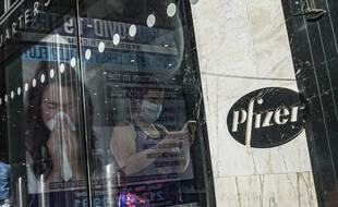Image d'illustration du siège mondial de Pfizer à New York.