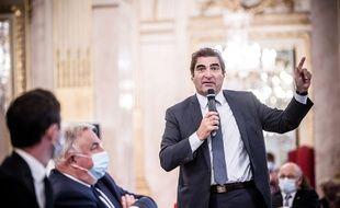 Christian Jacob lors de la journée parlementaire des groupes LR, à Paris le 8 octobre 2020.