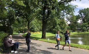 Le Jardin des plantes a rouvert ses portes au public, le 13 mai 2020 à Nantes.
