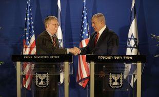 Le conseiller pour la sécurité nationale de la Maison Blanche John Bolton s'est entretenu avec le Premier ministre israélien Benjamin Netanyahu le 6 janvier 2019.