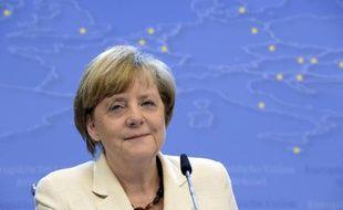 La chancelière Angela Merkel, à Bruxelles le 27 mai 2014