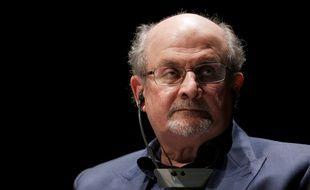 L'écrivain Salman Rushdie au Forum de l'économie positive au Havre, le 13 septembre 2016.