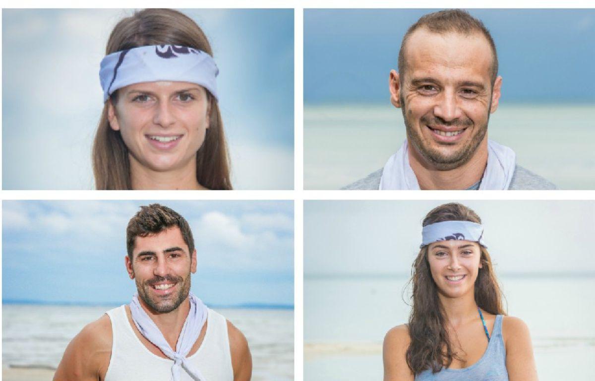 Clémentine, Frédéric, Vincent et Mathilde sont les quatre finalistes de «Koh-Lanta» – © PHILIPPE LE ROUX / ALP / TF1