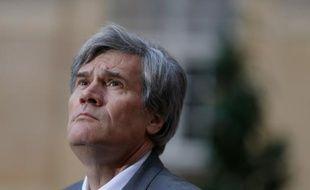 Le ministre français de l'Agriculture Stéphane Le Foll le 25 février 2016 à Matignon.