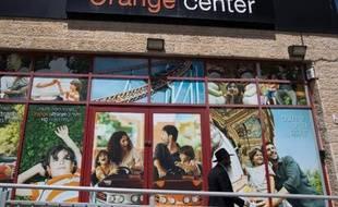 Un magasin de l'opérateur de téléphone Partner, à Jerusalem le 4 juin 2015