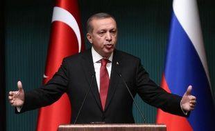 Le président turc Recep Tayyip Erdogan le 1er décembre 2014 dans son nouveau palais présidentiel à Ankara