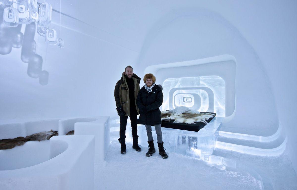 La suite confort de l'IceHotelJukkasjärvi en Suède, réalisés par Luc Voisin et Mathieu Brison, deux architectes lyonnais. – Ateliers KumQuat