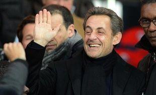 Nicolas Sarkozy, le 24 février 2013 au Parc des Princes, lors de la rencontre PSG-OM.
