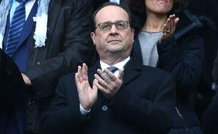 François Hollande au Stade de France le 6 février 2016.