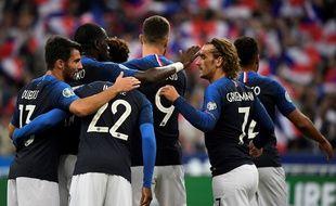 Les Bleus face à Andorre, le 10 septembre 2019 au Stade de France.