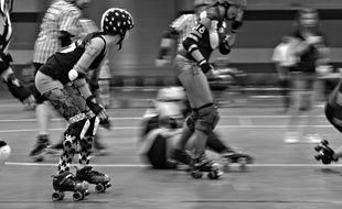 Mortal Derby X, notre nouveau feuilleton, nous projette dans les coulisses du Quad Derby, sport spectacle du futur entre Roller derby (photo) et Rollerball.