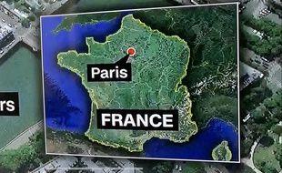 Philippe Corbé, corresponsdant pour RTL aux États-Unis, a repéré cette erreur quelque peu cocasse