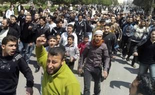 Manifestations contre le régime en Syrie le 22 avril 2011.